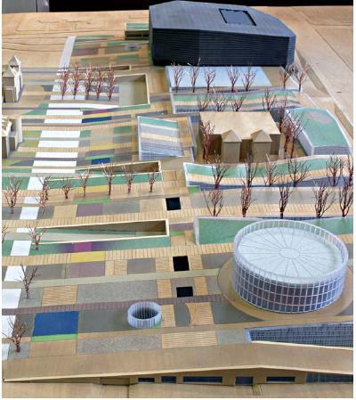 CREAA , maqueta del proyecto del centro de creacion de las artes de Alcorcon