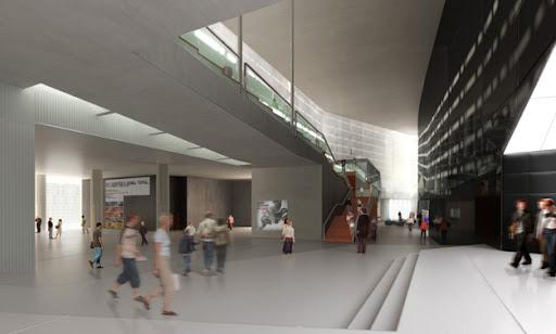 CREAA , bienvenidos al centro de creacion de las artes de Alcorcon , hall de entrada