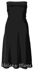 svart axelbandslös klänning, ellos.se
