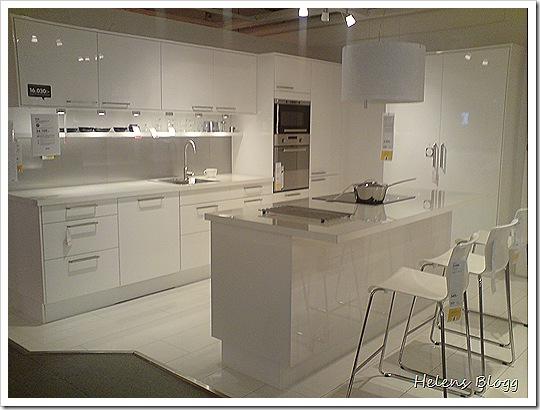 IKEA Högblankt vitt kök