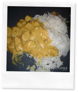 Curry kyckling med jasmin ris