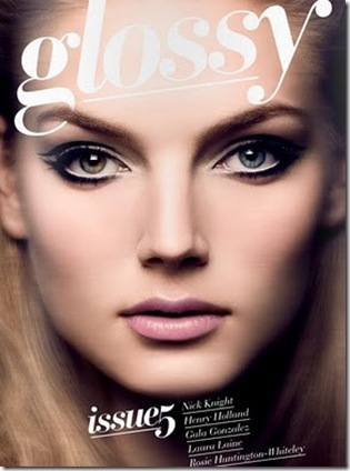 glossy mag front cover