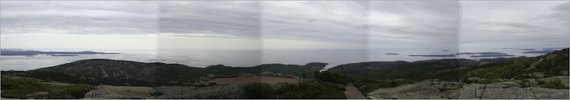 Really bad panorama from the summit