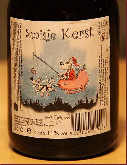 Xmas Beer 2010 Smisje Kerst label 600