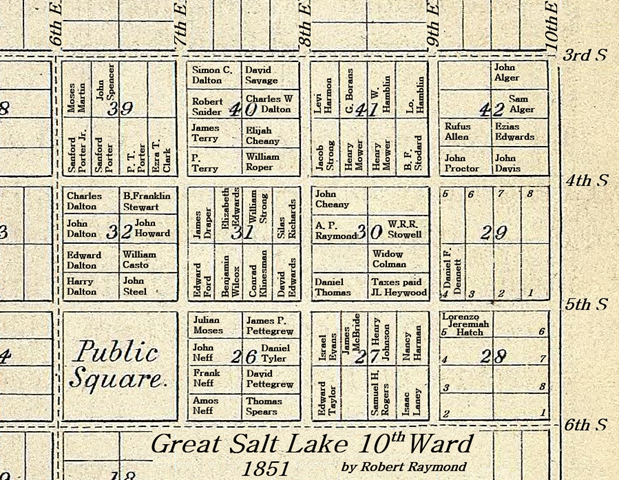 Salt Lake Cith 10th Ward, 1850