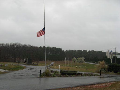 Flag at half mast in honor of Bob