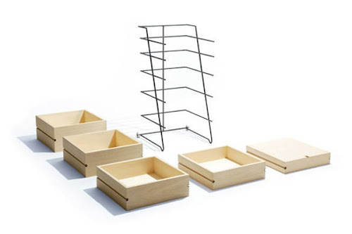 Minimalist Wooden Storage Design