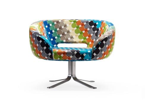 Retro Modern Chair by Cappellini - the Multicolor Rive Droite Swivel Chair