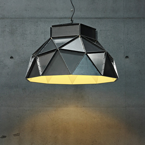 Industrial Lamp Shades - ultra-contemporary ceiling shade by Dark