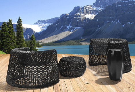 Stylish Outdoor Furniture by Seasonal Living - Black Lace Collection