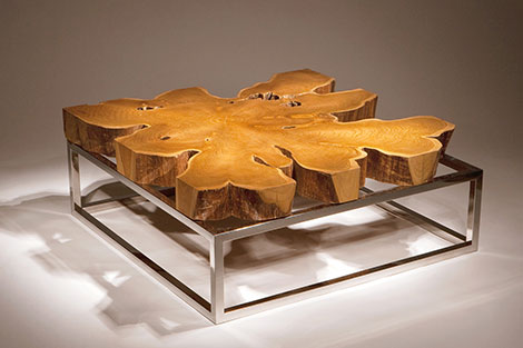 Unique Coffee Table, Double Base by Chista