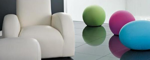 The Egg, Bagel And Ball As A Stool