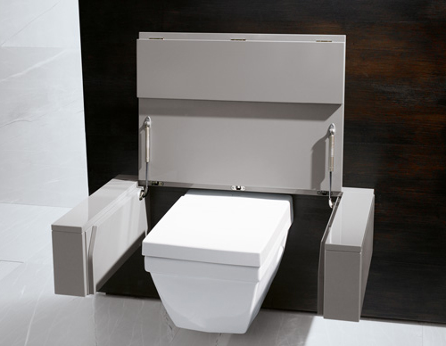 Practical Bathroom Solutions by Burgbad - toilet converts into ...?