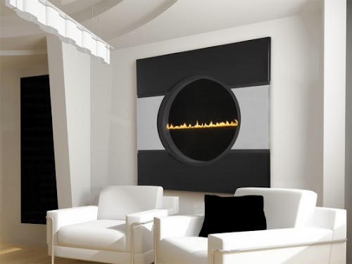 Futuristic Transparent Gas Fireplace   Solaris by Heat&Glo