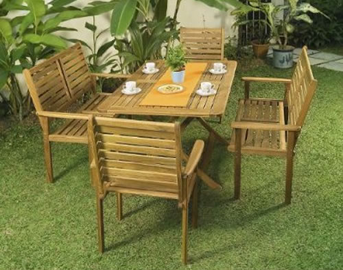Outdoor patio furniture for garden or backyard