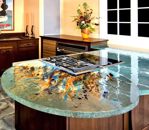Art Glass Countertops by ThinkGlass
