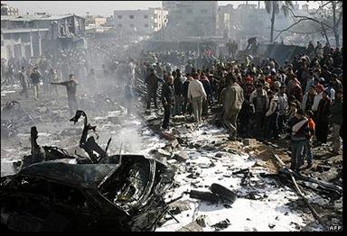 zonas bombardeadas