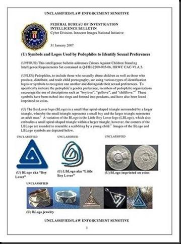 informe del FBI sobre la pedófilia