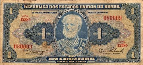 Nota 1 Cruzeiro - frente