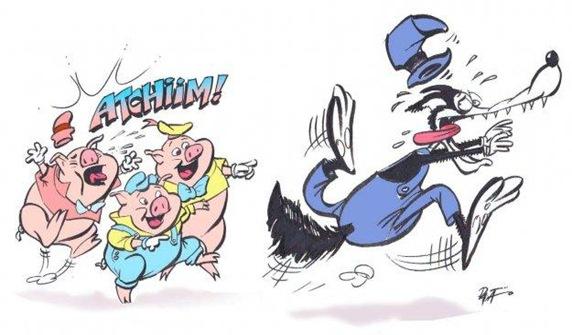 Gripe Suína - Os três porquinhos