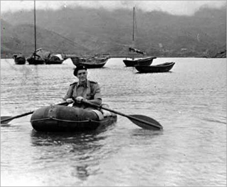 a british guard in tai po 1951
