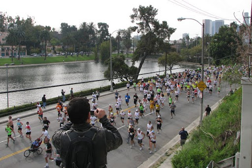 L.A. Marathon, street closures, Echo Park, Silver Lake