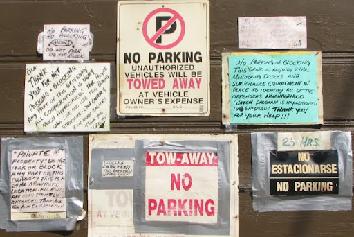 How Many Ways Can You Say No Parking The Eastsider La