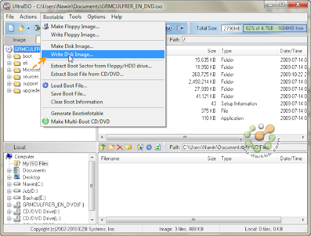 how to write windows on usb ultraiso