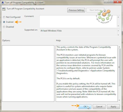 Program Compatibility Assistant ปิดซะอย่าให้มากวนใจ Pcad09