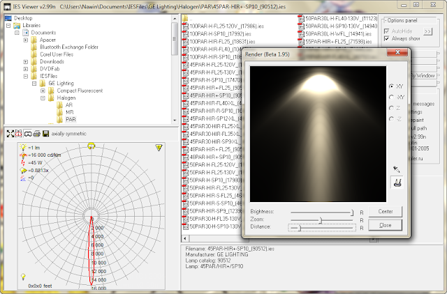 IES Viewer v2.99v โปรแกรมสำหรับเปิดดูไฟล์นามสกุล .ies [Reupload] Iesview