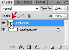 เทคนิคการสร้างตัวอักษร Acrylic [Text Effect] Acrylic03