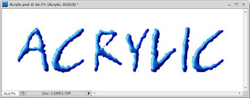 เทคนิคการสร้างตัวอักษร Acrylic [Text Effect] Acrylic40