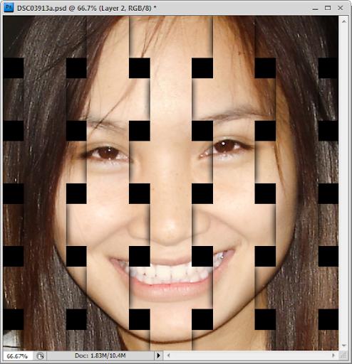 เทคนิคการทำภาพแบบ Interweaving Photo Strips [Photo Effect] JStrips26