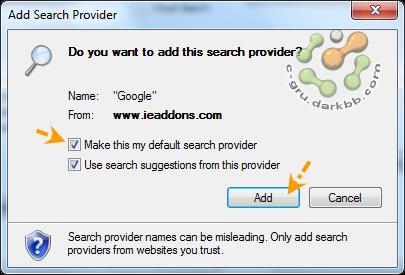 เพิ่ม Providers สำหรับค้นหาช้อมูลบน IE 8 Pvd04