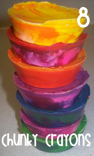 8 Chunky Crayons