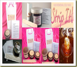 sugaring wax and lip and cheek tints