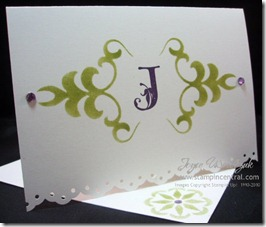 MONOGRAM NOTE CARD
