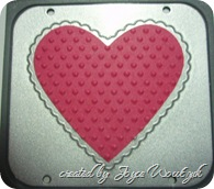 PUNCHED HEART AFTER EMBOSSING