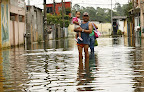 Enchente em Caxias. Clique para amplicar.