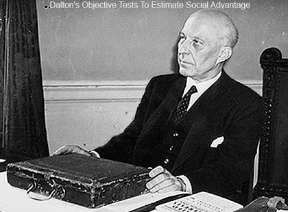 Dalton's objective tests to estimate social advantage