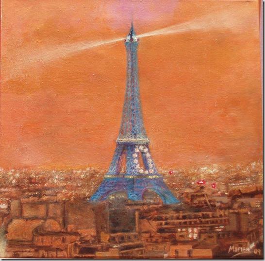 Paris UE 2008- óleo sobre lienzo 40x40 febrero 2009