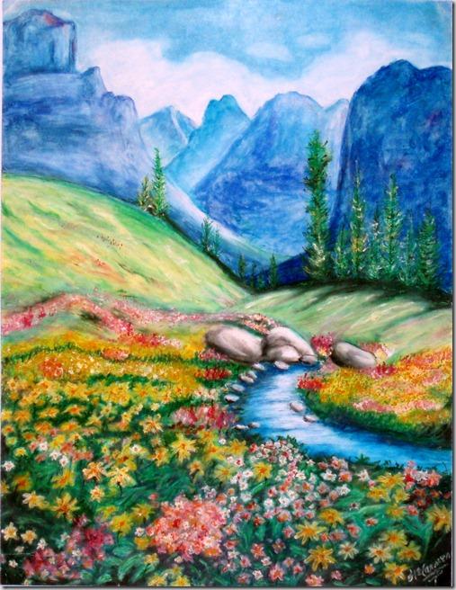 paisaje-50x65 ceras sobre cartulina - primer premio casa juventud delicias (14 años)1998