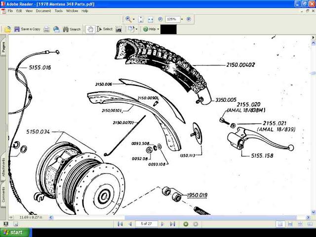 Montesa Cota 348 Motorcycle Parts Manual  U0026 Parts Lists For