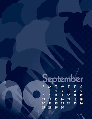 Sept Morning Glory Calendar