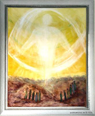 Gerda Dittmann 'Himmelfahrt', Öl auf Leinwand