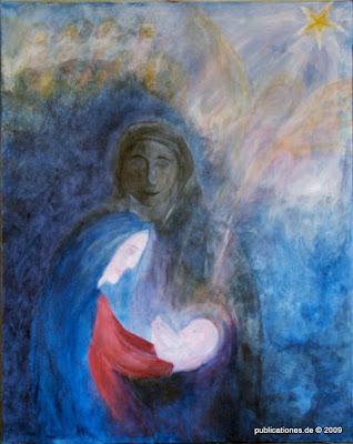 Gerda Dittmann 'Heilige Familie' - Acryl auf Leinwand, Foto: Peter Denker