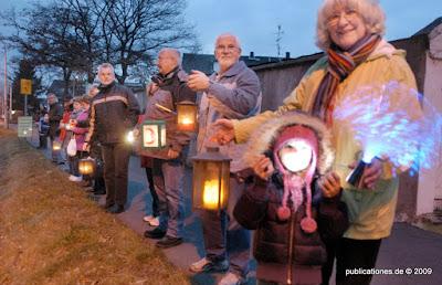 Lichterketten-Demo, Foto von C. Völker