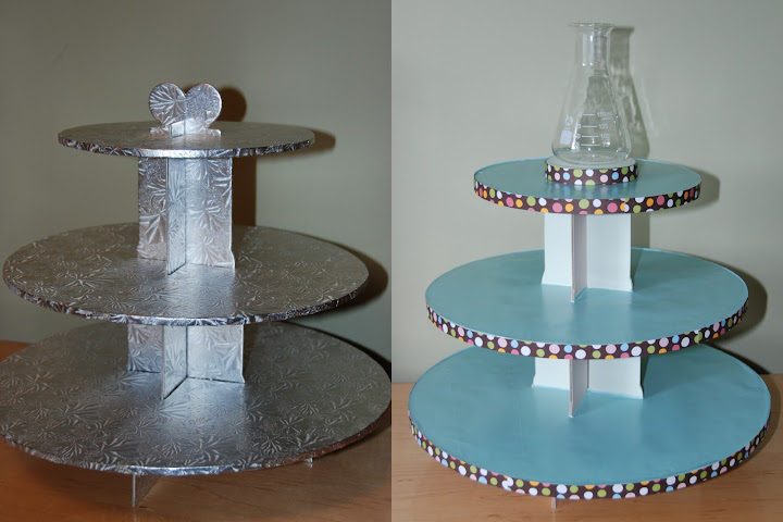 mad science cupcake stand