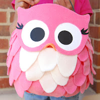 pink owl treat pail tutorial