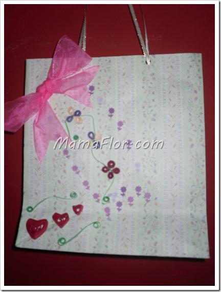 Como decorar una bolsita de regalo para un dia especial